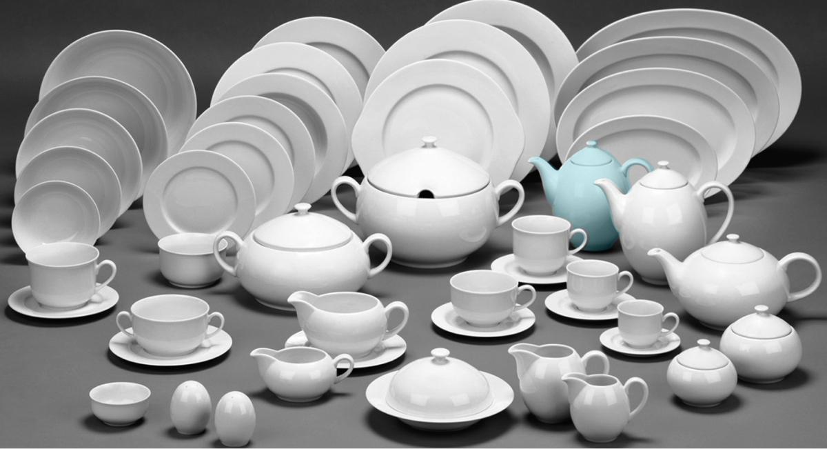 mlékovka 0,20 L opál krajka modrá 80136 Thun český porcelán