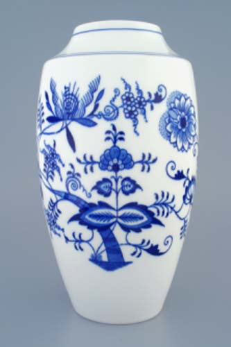váza cibulák 27 cm originální cibulákový český porcelán Dubí