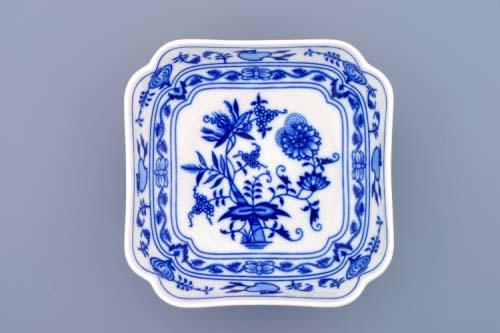 mísa cibulák salátová čtyřhranná vysoká 15 cm originální český porcelán Dubí 2.jakost