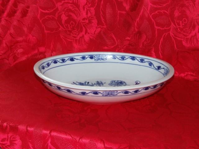 mísa cibulák zapékací oválná 32,5 cm český porcelán Dubí