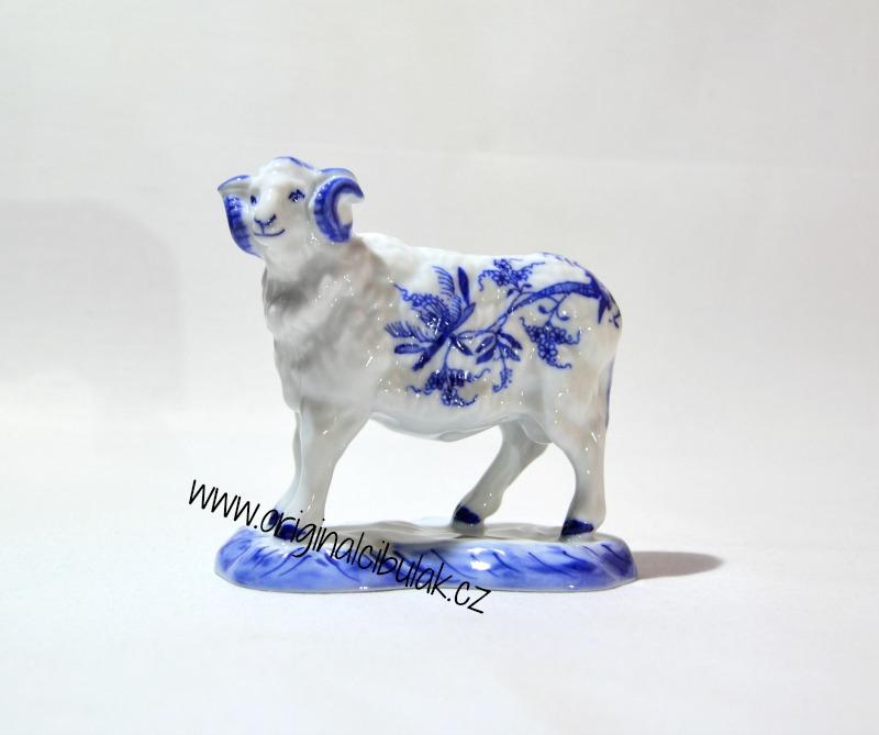 cibulák Beran 10 cm originální český porcelán Dubí Royal dux Bohemia 2.jakost