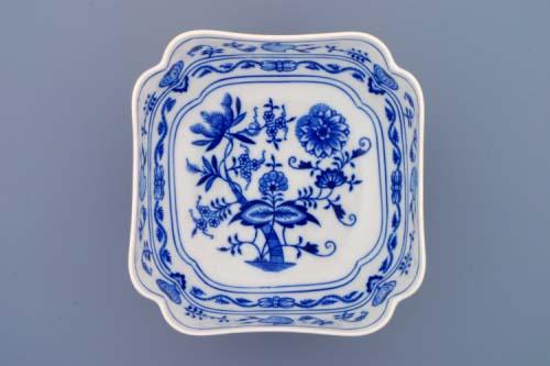 cibulák mísa salátová čtyřhranná vysoká 18 cm český porcelán Dubí cibulový vzor