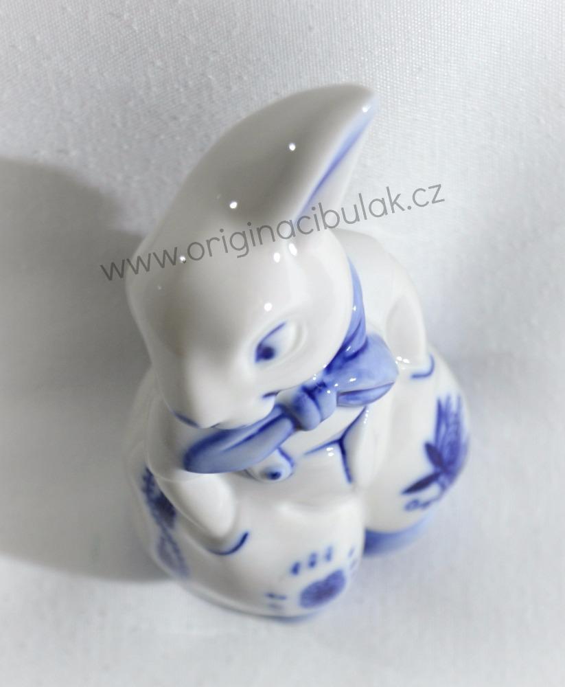 cibulák Zajíc v kalhotách 11 cm originální český porcelán Dubí Dux 2.jakost