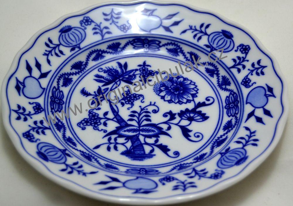 Cibulákový porcelán talíř dezertní 17 cm originální cibulák Dubí
