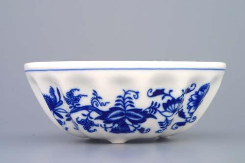 Cibulák bábovka malá 13,7 cm originální cibulákový porcelán Dubí , cibulový vzor,