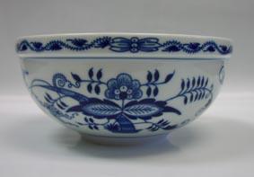 Cibulák Mísa kulatá velká 20 cm originální cibulákový porcelán Dubí, cibulový vzor,