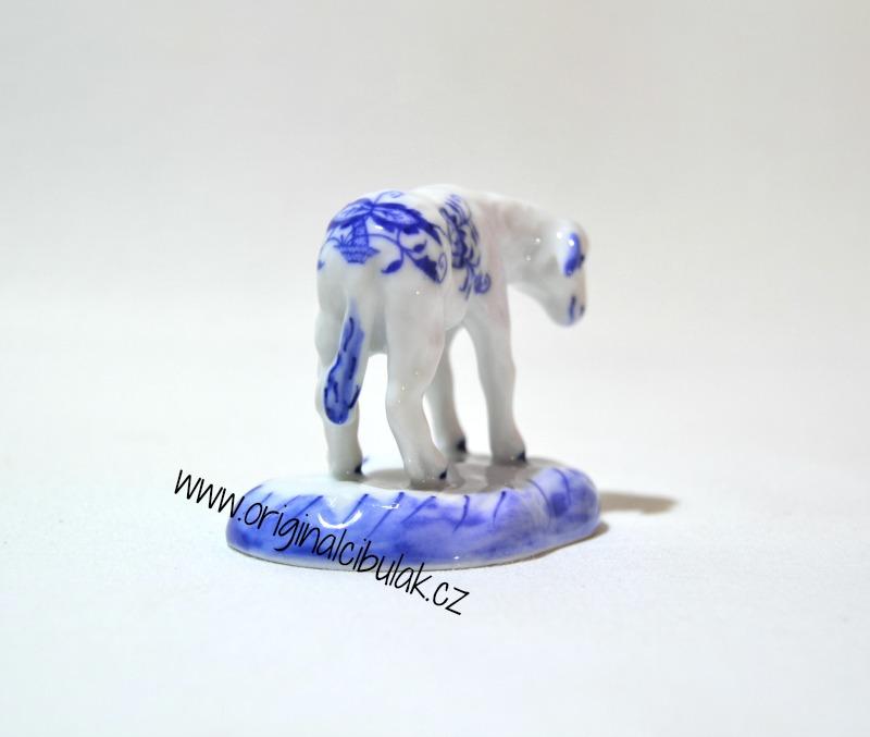 Cibulák Jehně s hlavou dolů 6 cm originální cibulákový porcelán Dubí, cibulový vzor,