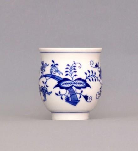 Cibulák Pohárek na čaj 0,18 l originální cibulákový porcelán Dubí, cibulový vzor,