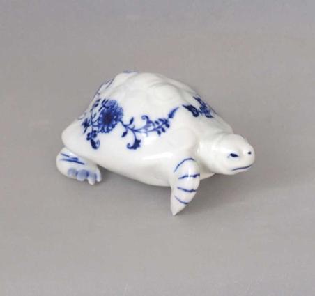Cibulák Želva 342 Dux 9 cm originální cibulákový porcelán Dubí, cibulový vzor