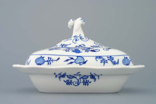 Cibulák Mísa ragout s víkem 0,40 l originální cibulákový porcelán Dubí, cibulový vzor