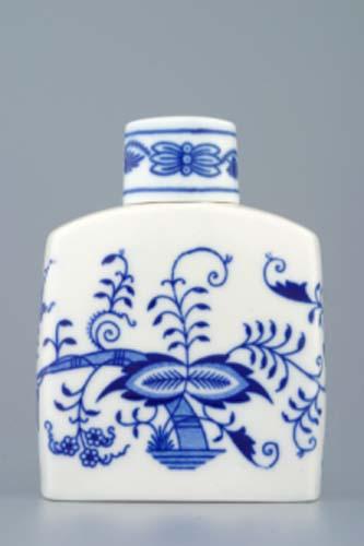 Cibulák Dóza na čaj s víčkem 12 cm originální cibulákový porcelán Dubí, cibulový vzor,