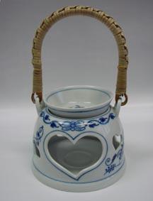 Cibulák aroma lampička 10 cm originální cibulákový porcelán Dubí, cibulový vzor
