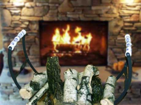 Cibulák Krbový koš na dřevo 72 cm, originální cibulákový porcelán Dubí, cibulový vzor,