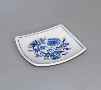 Cibulák Podšálek Vito zrcadlový 13 cm originální cibulákový porcelán Dubí, cibulový vzor