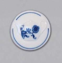 Cibulák Magnetka kulatá konev čajová 4,5 cm originální cibulákový porcelán Dubí, cibulový vzor,