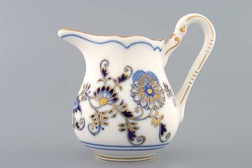 Mlékovka vysoká 0,16 l, originální cibulák zlacený, cibulový porcelán Dubí