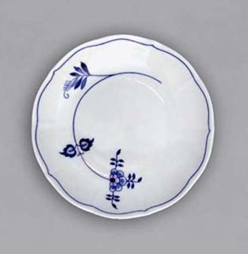 Podšálek bujón, 17,5 cm, ECO cibulák, cibulový porcelán Dubí