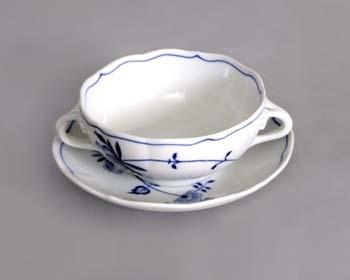 Šálek + podšálek bujón s 2 oušky 0,30 l ECO cibulák, cibulový porcelán Dubí