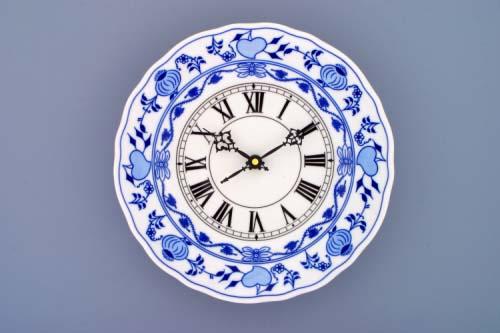 Cibulák hodiny 24 cm , originální porcelán Dubí