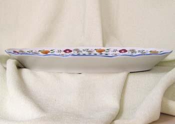 Mísa oválná, 35 cm, NATURE barevný cibulák, cibulový porcelán Dubí