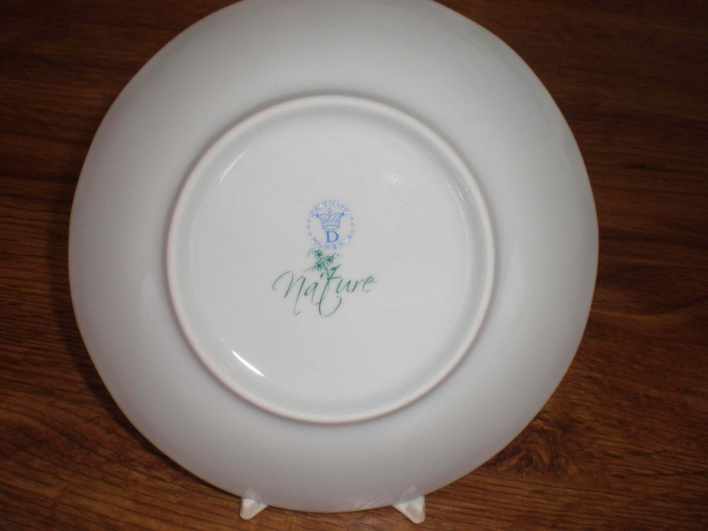 Talíř dezertní praporový 19 cm - NATURE barevný cibulák, cibulový porcelán Dubí