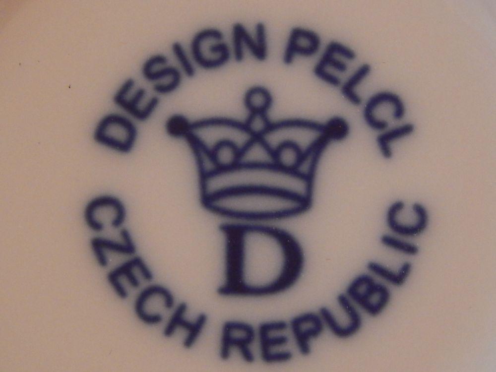 Talíř mělký Bohemia Cobalt prof. arch. Pelcl cibulový porcelán