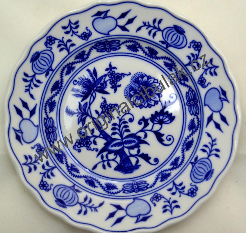talíř cibulák dezertní 17 cm originální cibulákový porcelán Dubí