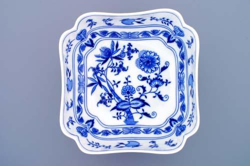 mísa cibulák salátová čtyřhranná vysoká 24 cm originální cibulákový porcelán Dubí