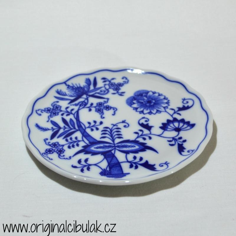 Cibulák podložka pod konvici 14,5 cm originální cibulákový porcelán Dubí, cibulový vzor,