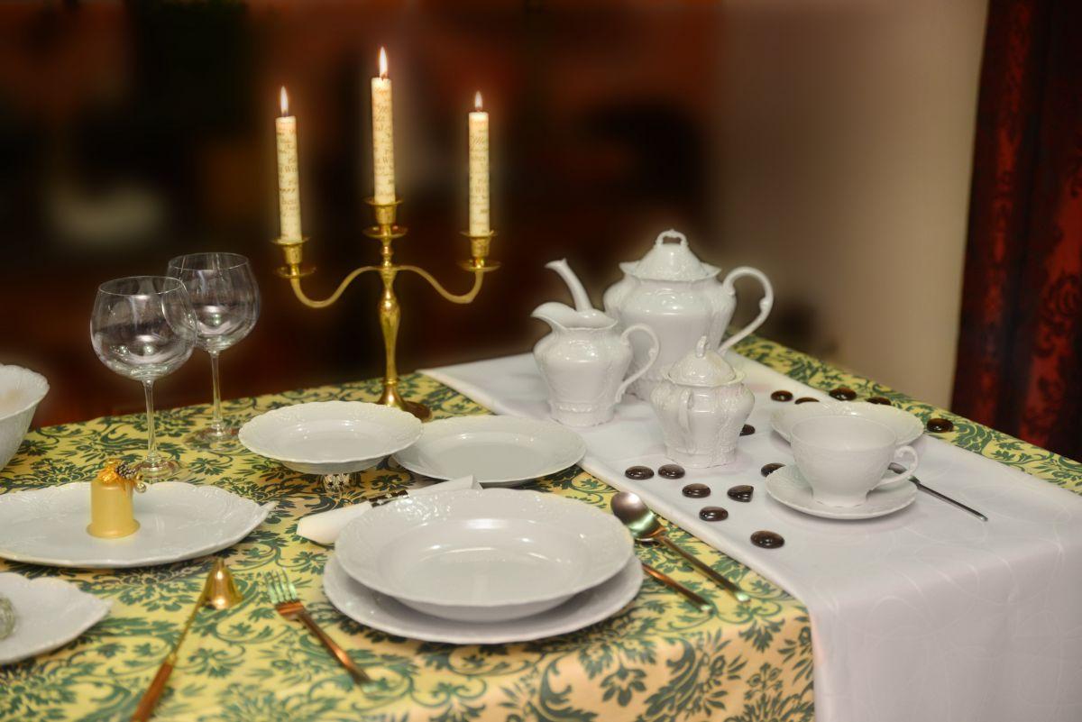 Konvice čajová porcelánová bílá Opera 1,2 l Český porcelán Dubí