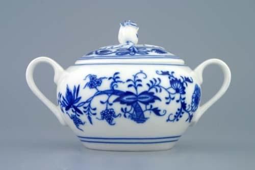 Cukřenka s oušky 0,30 l - tělo - originální cibulákový porcelán Dubí, cibulový vzor