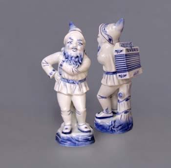 Cibulák trpaslík s harmonikou Lojza 22 cm český porcelán Dubí