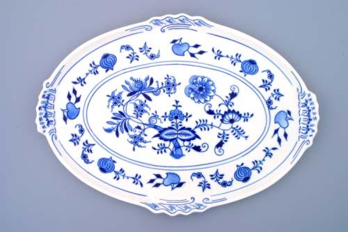 podnos oválný 39 cm originální cibulákový porcelán Dubí 2.jakost