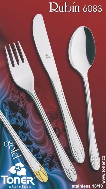 Nůž jídelní TONER Rubín 1ks nerez 6083