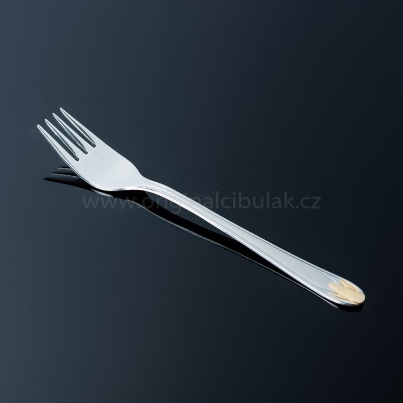 Vidlička jídelní TONER Rubín Gold zlacená 1 ks nerez 6083 gold