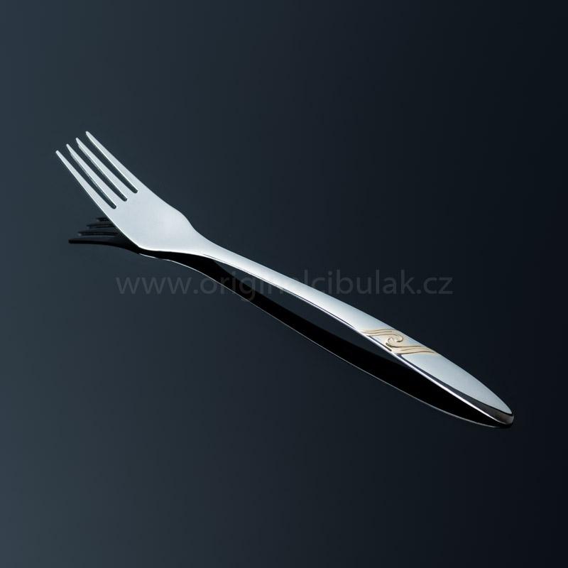 Vidlička jídelní Romance Gold zlacená 1 ks Toner nerez 6005