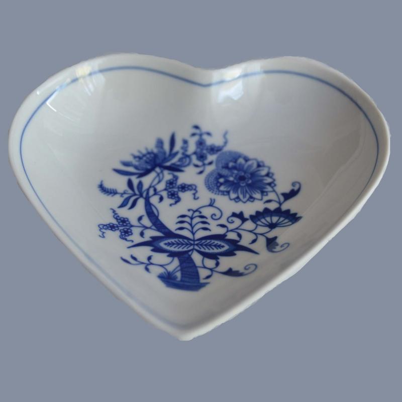 Cibulák mísa srdce Český porcelán Dubí , cibulákový porcelán,