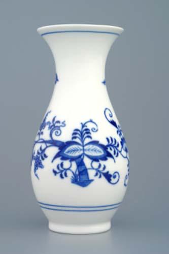 Cibulák váza 1210/1, originální cibulákový porcelán Dubí, cibulový vzor