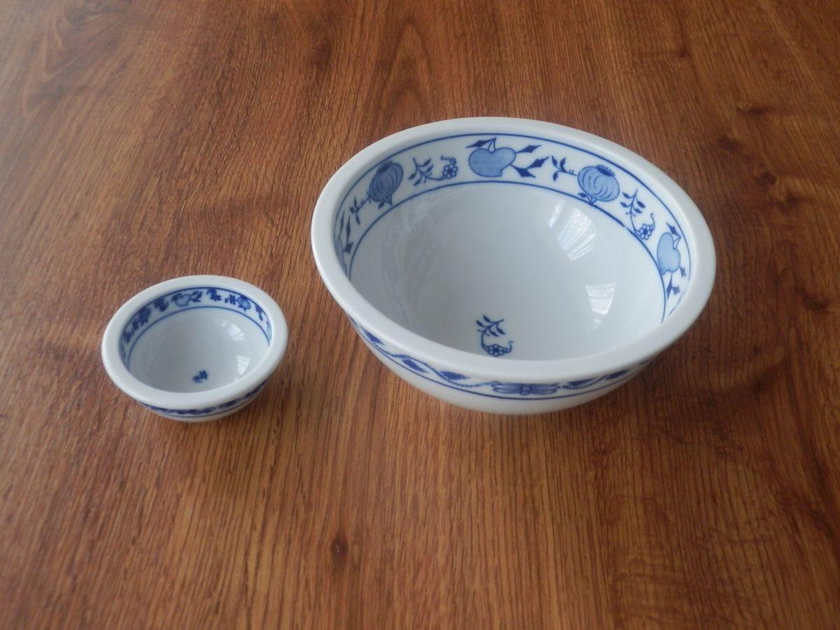 Cibulák Mísa kulatá Bep2 10cm originální cibulákový porcelán Dubí, cibulový vzor,
