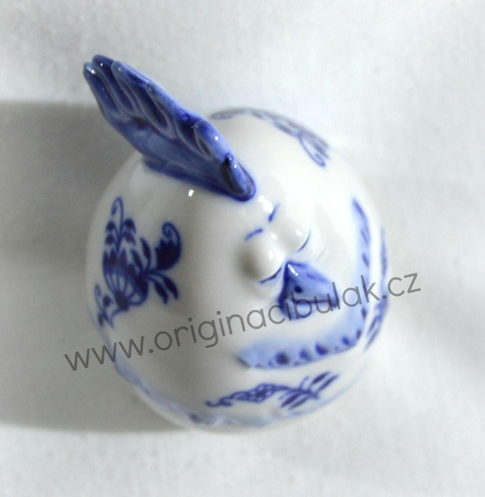 Cibulák Vejce slepička 7,1 cm originální cibulákový porcelán Dubí, cibulový vzor,