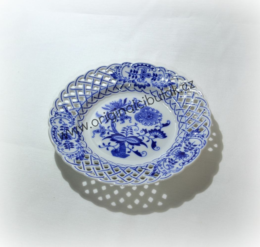 talíř prolamovaný 18 cm 10152 cibulák český porcelán Dubí