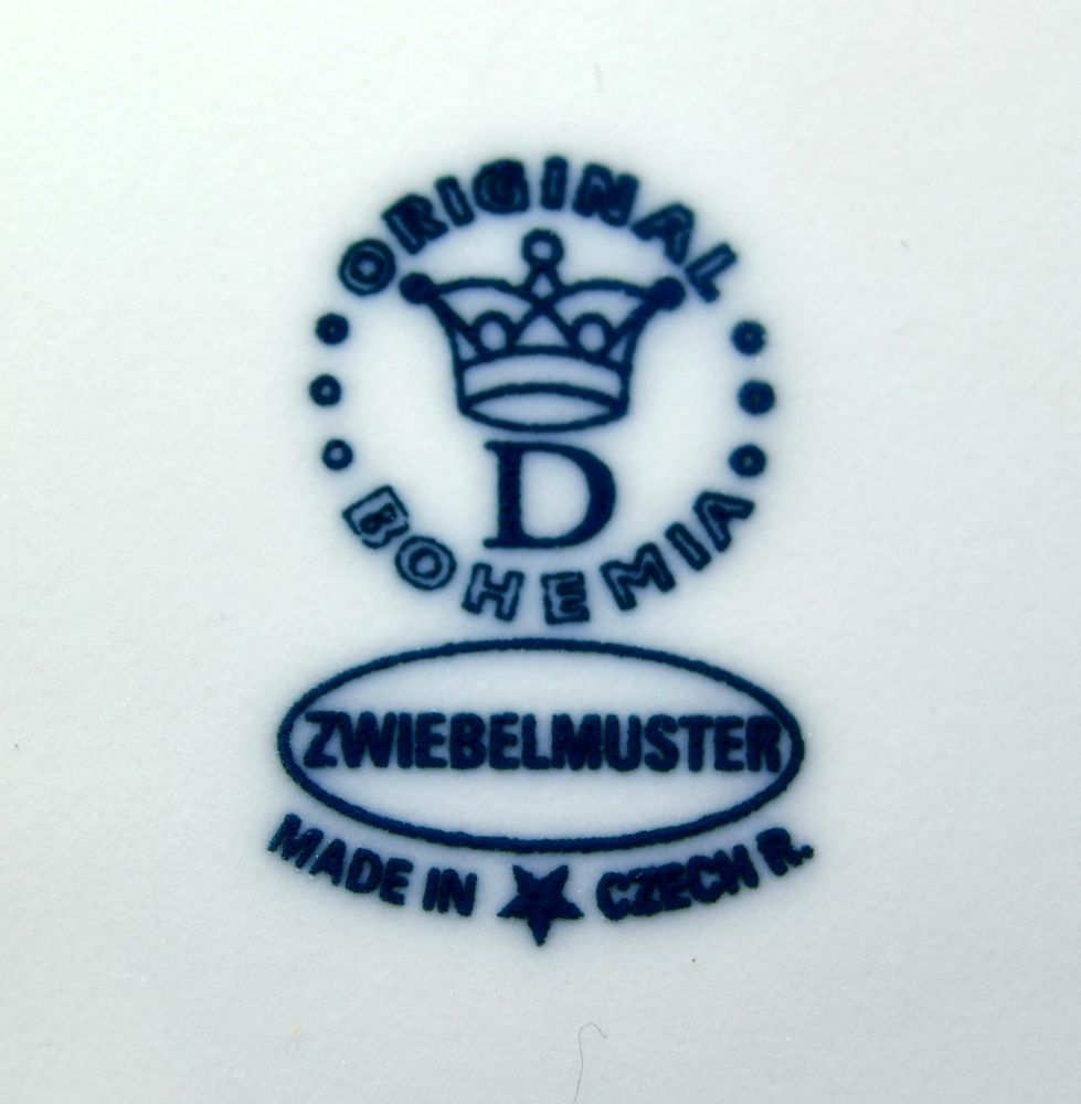 podnos čtyřhranný 45 cm 10090 cibulák český porcelán Dubí