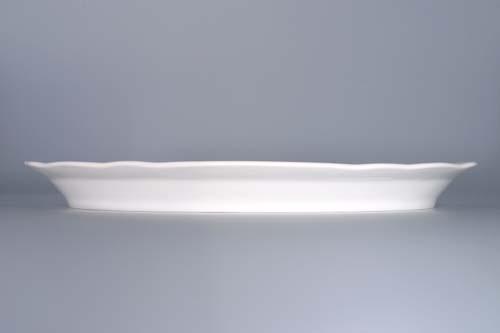 Cibulák talíř oválný 34,7 cm originální cibulákový porcelán Dubí, cibulový vzor,