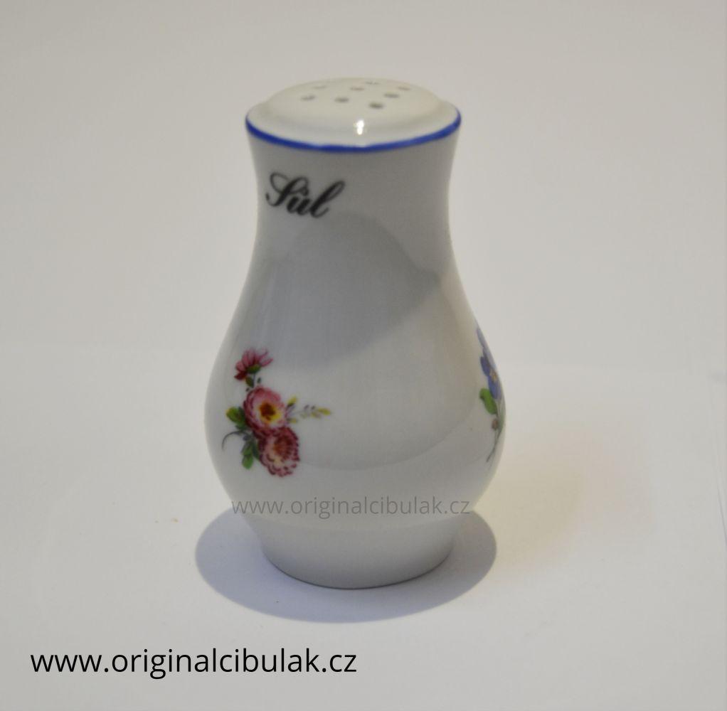 Slánka sypací 7,5 cm házenka Rakouská modrá linka originální porcelán Dubí
