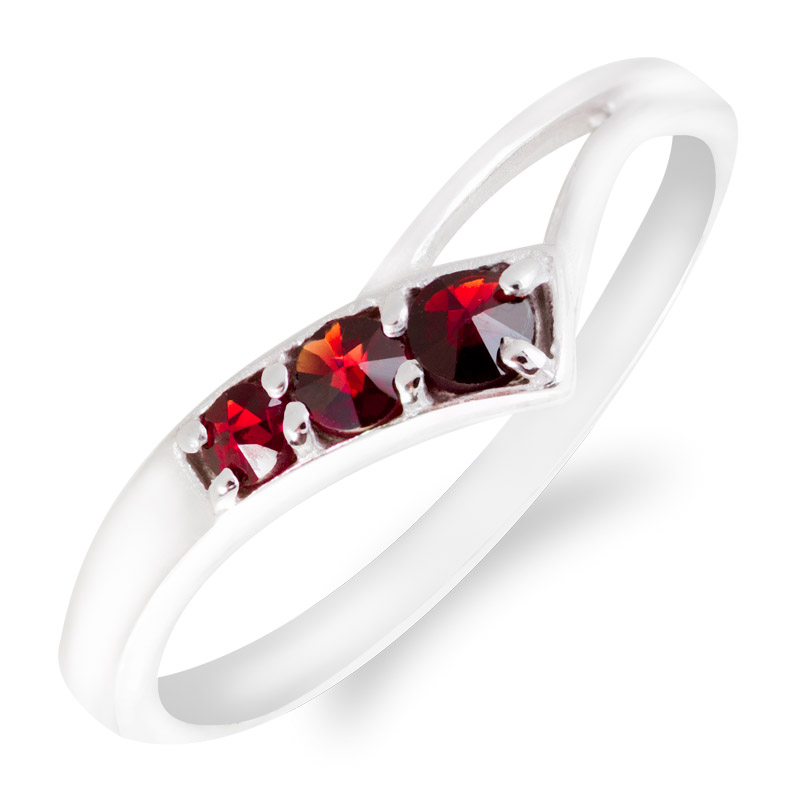 prsten Český Granát Turnov