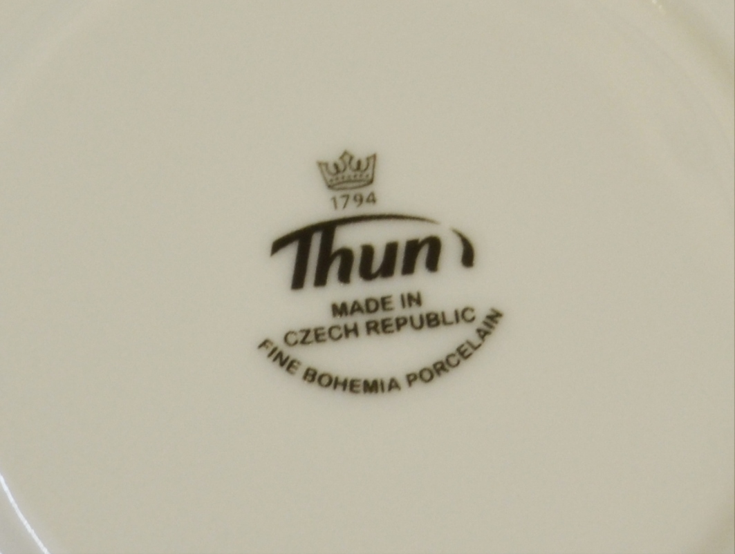 Loos kávová souprava bílý porcelán Thun 6 osob 15 dílů český porcelán Nová Role nedekorovaný