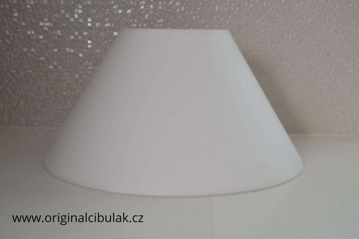 Stínítko bílé hladké textilní