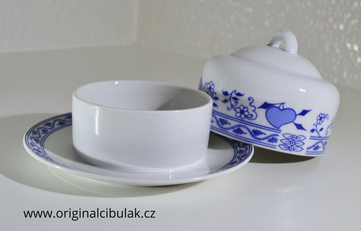 máslenka kulatá cibulák Henriette 10 cm henrieta 2 díly Saphyr Thun český porcelán