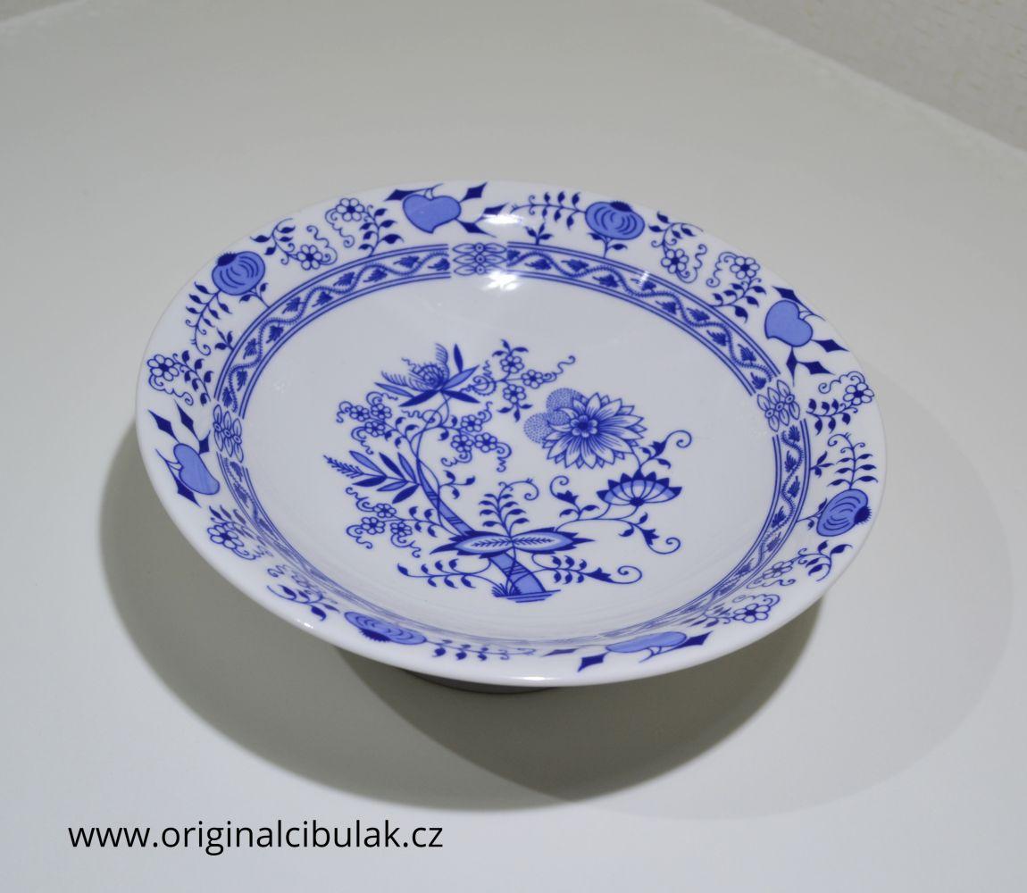 mísa cibulák Henriette ovoce s nohou 24 cm Henrieta Saphyr Thun český porcelán