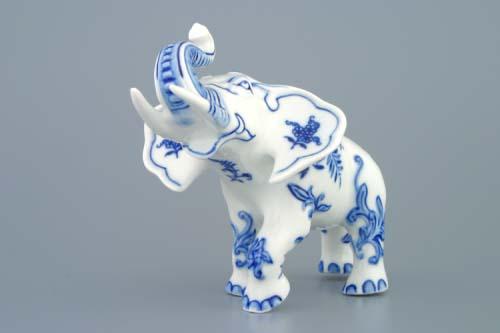 slon cibulák reklamní 18 cm originální český porcelán Dubí 2.jakost